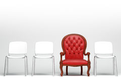 The red armchair Stock Images