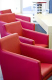 Red armchairs Stock Photography