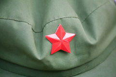 Red army cap Royalty Free Stock Photo
