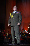 The Red Army Choir. Alexei Volzhanin and The Red Army Choir Orchestra and Ballet MVD Ensemble from Russia, conducted by General Viktor Eliseev ( not present in Stock Photos