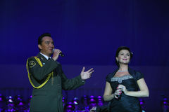 The Red Army Choir. Natacha Eliseeva ( R )  and The Red Army Choir Orchestra and Ballet MVD Ensemble from Russia, conducted by General Viktor Eliseev ( not Stock Photos