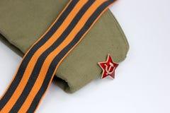 Red Army man's garrison cap Stock Photos