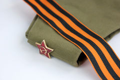 Red Army man's garrison cap Royalty Free Stock Photo