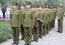 Red Army recruits in Nanjing Royalty Free Stock Images