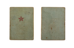 Red Army soldier`s ID book Stock Image