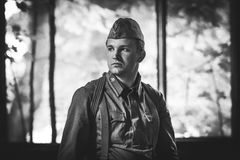 Red Army soldier Royalty Free Stock Image