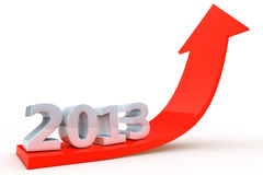 Red arrow 2013 pointing up Stock Photos