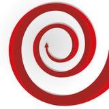 Red arrow. Abstract circular motion red long growth arrow Stock Photos