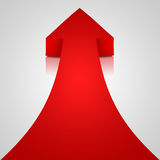 Red arrow. On white background Royalty Free Stock Photo