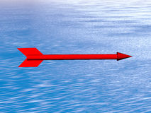red arrow above the sea Stock Photography