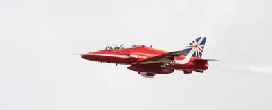 RAF Red Arrows aerobatic show in Tallinn, Estonia royalty free stock image
