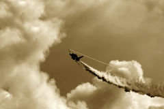 Red Arrow aerobatic flight show in Tallinn, Estoni Royalty Free Stock Image
