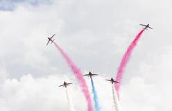 RAF Red Arrows aerobatic flight show in Tallinn stock photos