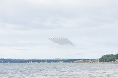 Red Arrow aerobatic flight show in Tallinn, Estonia Stock Photography