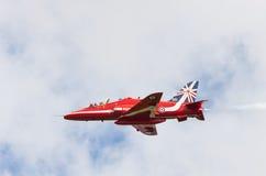 RAF Red Arrow aerobatic flight show in Tallinn, Es royalty free stock photos