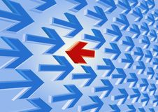 Red arrow against the current Stock Images