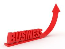 Red arrow, business Royalty Free Stock Photos