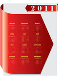 Red arrow calendar for 2011 Stock Photo