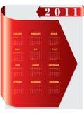 Red arrow calendar for 2011. Red arrow calendar for the year 2011 Stock Photo