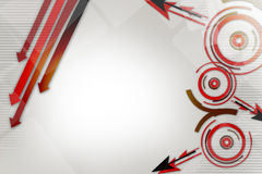 red arrow and cicrle, abstract background Royalty Free Stock Image
