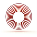 Red arrow circles Royalty Free Stock Photography