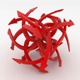 Red Arrow Cube. Red 3d Arrow Cube, isolated Royalty Free Stock Photos