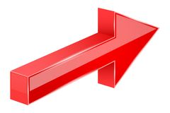 Red arrow. 3d next sign. Vector illustration isolated on white background Stock Illustration