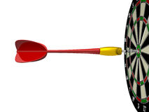 Red Arrow with Dart Board Stock Image