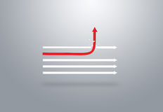 Red arrow in different directions Royalty Free Stock Images