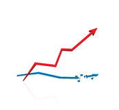 Red arrow in different directions Stock Image