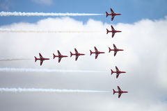 Red Arrow Display 3 Stock Images