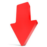 Red arrow down. Stock Photography