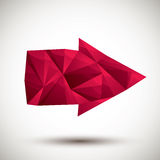 Red arrow geometric icon made in 3d modern style, best for use a Royalty Free Stock Images