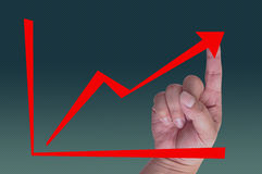 Red Arrow Graph Royalty Free Stock Photo