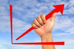 Red arrow graph Royalty Free Stock Image