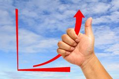Red Arrow Graph Stock Photo