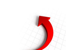 Red arrow graph Stock Photos