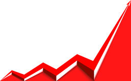 Red arrow graph goes up. On a white background Stock Photo