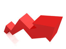 Red arrow graph growing up Royalty Free Stock Photo