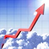Red Arrow Grow To Sun Stock Image