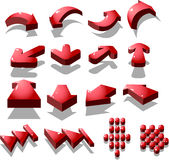 Red arrow icon Stock Photos