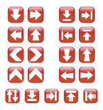 Red Arrow icons Royalty Free Stock Photography
