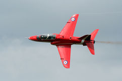 Red arrow jet. Close up of a red arrow jet airplane Stock Photo