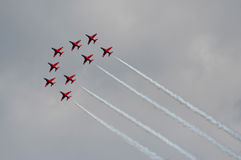 Red arrow jet planes Stock Images