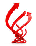 Red Arrow. Line of Success. Royalty Free Stock Image