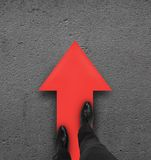 Red arrow Stock Photography