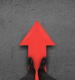Red arrow Stock Images