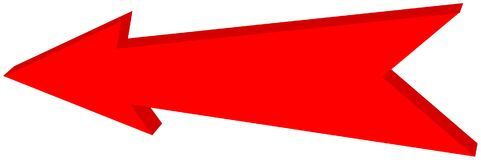 Red arrow pointed - 3D Illustration. Red arrow pointed, it`s a llustration Royalty Free Stock Photography