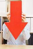Red arrow pointing down Royalty Free Stock Photos