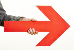 Red arrow pointing to the right Royalty Free Stock Photo